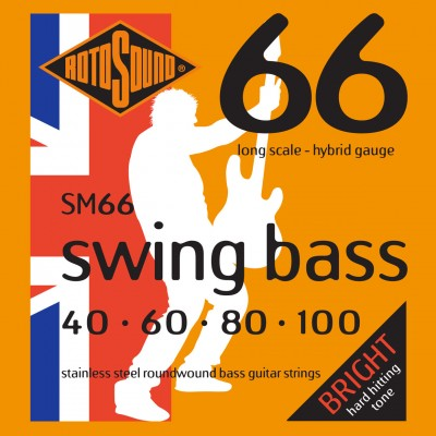 ROTOSOUND SWING BASS 66 SM66 STAINLESS STEEL HYBRID 40100