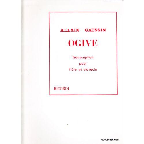 RICORDI GAUSSIN - OGIVE - FLUTE ET CLAVECIN