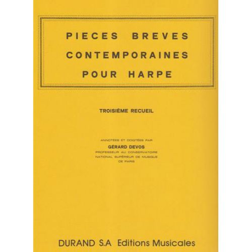 DURAND PIECES BREVES CONTEMPORAINES VOL.3 - HARPE