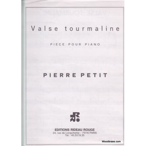 RIDEAU ROUGE PETIT - VALSE TOURMALINE - PIANO