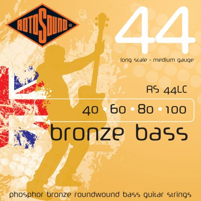 ROTOSOUND BRONZE BASS PHOSPHOR BRONZE MEDIUM 40 60 80 100