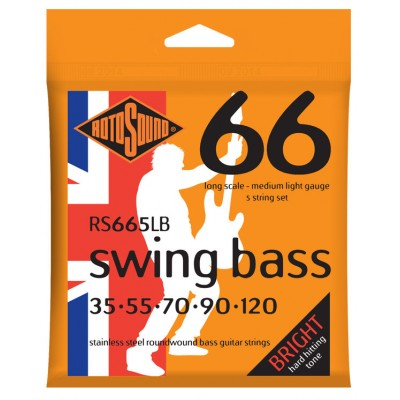 ROTOSOUND SWING BASS STAINLESS STEEL 5 STRINGS MEDIUM LIGHT 35 55 70 90 120