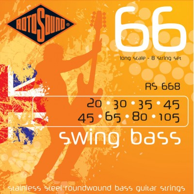 ROTOSOUND SWING BASS STAINLESS STEEL 8 STRINGS 20-45 30-65 35-80 45-105