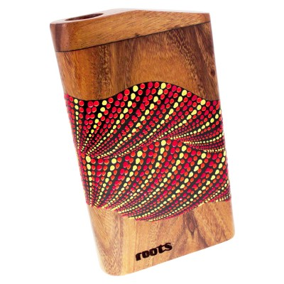 ROOTS PERCUSSION TRAVEL DIDGERIDOO WITH PAINTED ART - D TONE