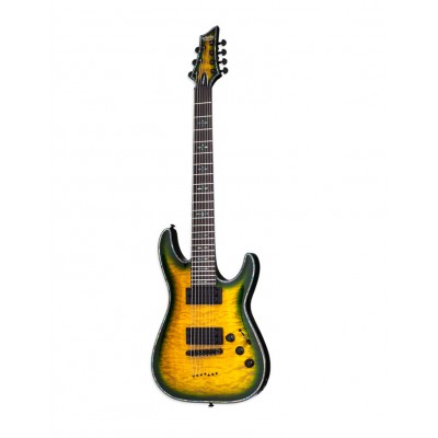 SCHECTER HELLRAISER C-7 P DARK GREEN BURST