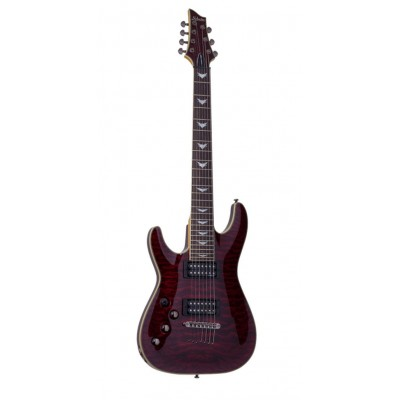 SCHECTER LEFT HANDED OMEN EXTREME-7 L BLACK CHERRY