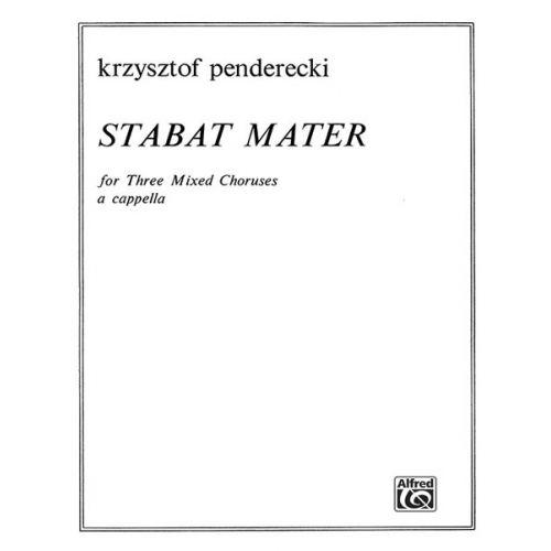 ALFRED PUBLISHING PENDERECKI KRZYSZTOF - STABAT MATER - LARGE-SCALE CHORAL WORKS (PER 10 MINIMUM)