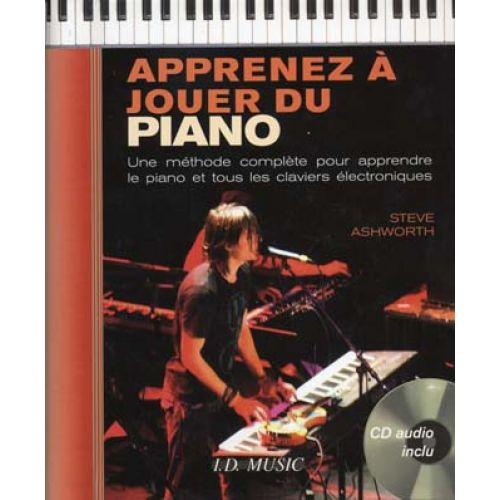 ID MUSIC ASHWORTH STEVE - APPRENEZ A JOUER DU PIANO + CD