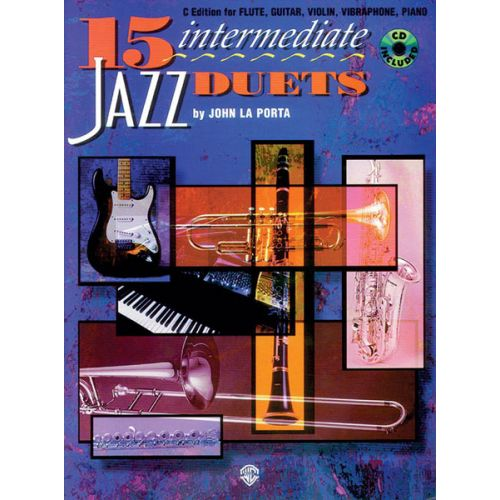 ALFRED PUBLISHING LA PORTA J AND NIELSEN G - 15 INTERMEDIATE JAZZ DUETS + CD - JAZZ BAND