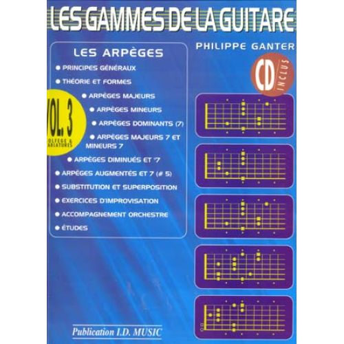 ID MUSIC GANTER PHILIPPE - LES GAMMES DE LA GUITARE VOL.3 + CD