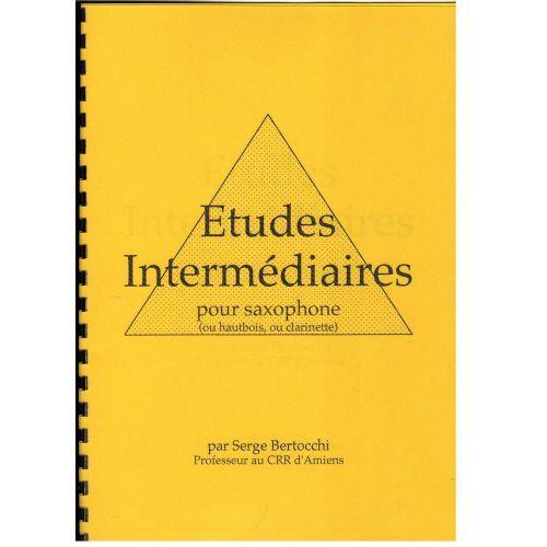 EDITIONS CERBèRE BERTOCCHI S. - ETUDES INTERMEDIAIRES - SAXOPHONE