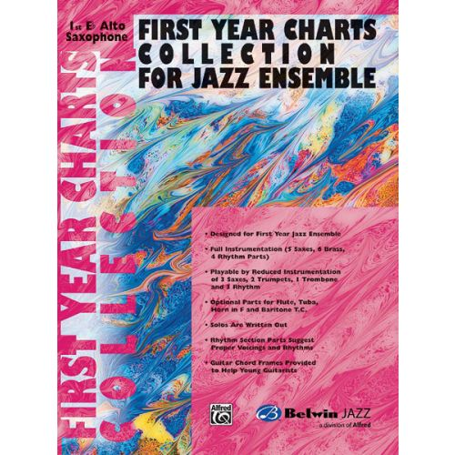 ALFRED PUBLISHING FIRST YEAR JAZZ COLLECTION - ALTO SAXOPHONE 1