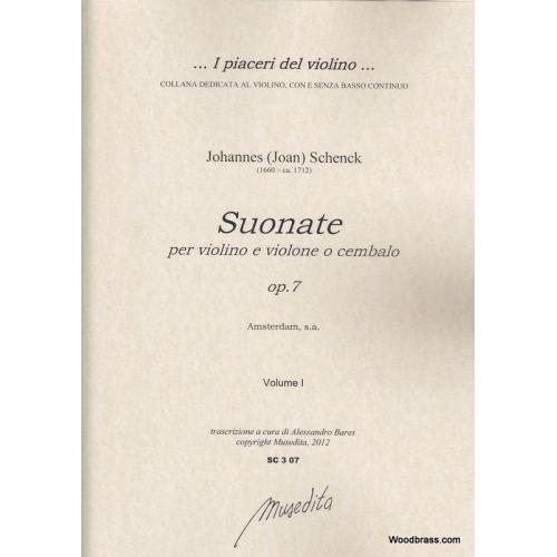 MUSEDITA SCHENCK J. - SUONATE A VIOLINO E VIOLONE O CEMBALO OP. 7