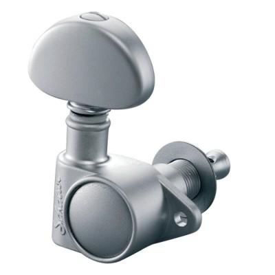 SCHALLER MACHINE HEAD M6 VINTAGE 3 LEFT/ 3 RIGHT SATIN CHROM