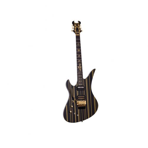 SCHECTER LINKSHAENDER LH SYNYSTER CUSTOM SUSTAINIAC BLACK