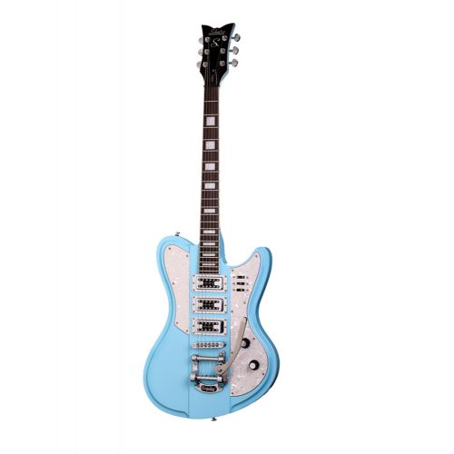SCHECTER ULTRA III BIGSBY VINTAGE BLUE