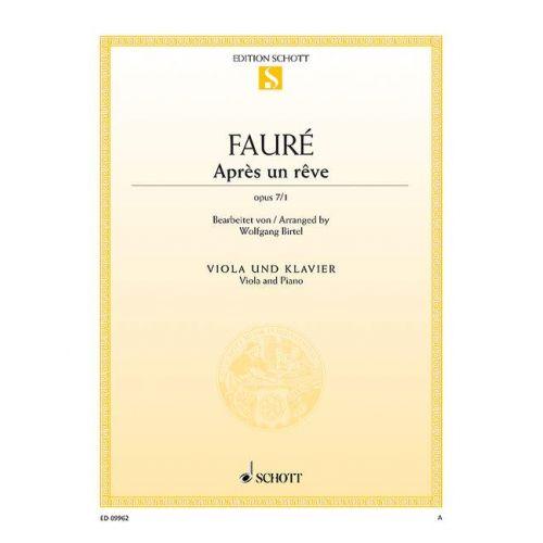 SCHOTT FAURE G. - APRES UN REVE OP. 7/1 - ALTO