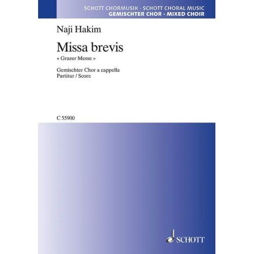 SCHOTT HAKIM N. - MISSA BREVIS - CHORALE