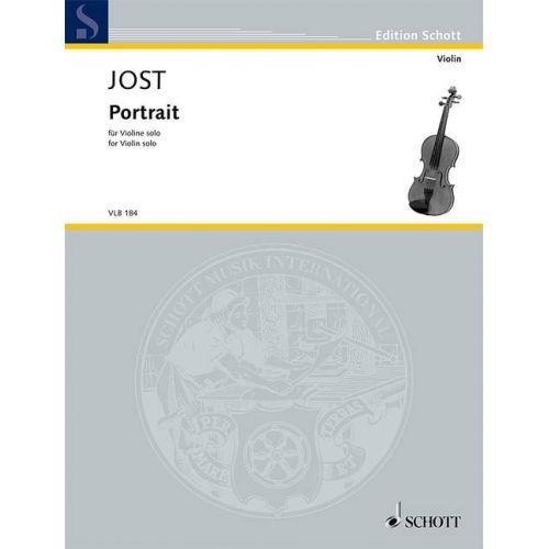 SCHOTT JOST C. - PORTRAIT - VIOLON