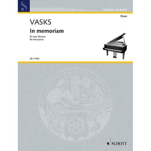 SCHOTT VASKS P. - IN MEMORIAM - PIANO