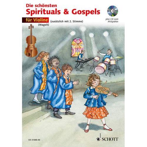 SCHOTT THE MOST BEAUTIFUL SPIRITUALS & GOSPELS - VIOLON