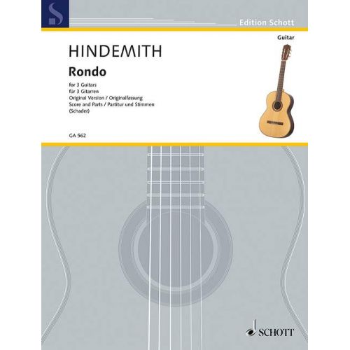 SCHOTT HINDEMITH P. - RONDO - GUITARE