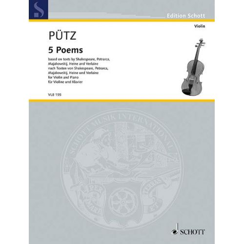 SCHOTT PUETZ E. - 5 POEMS - VIOLON