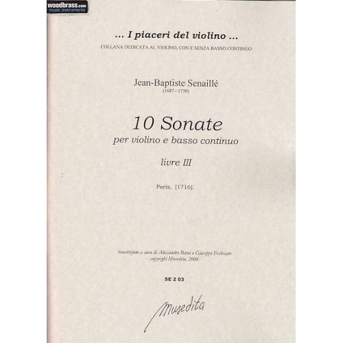 MUSEDITA SENAILLE J. B. - SONATES (LIVRE III) - VIOLON ET BC