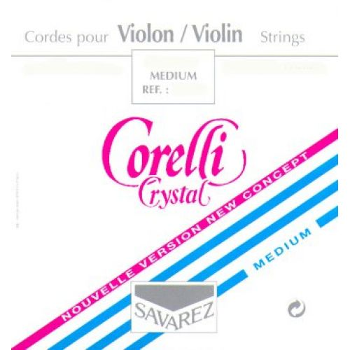SAVAREZ 4/4 CORELLI CRYSTAL VIOLIN SET MEDIUM TENSION