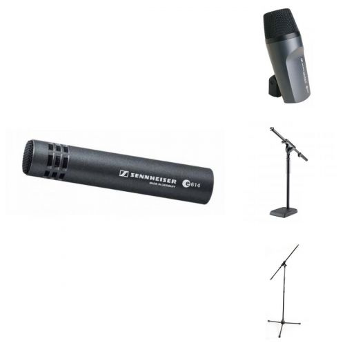 SENNHEISER DRUMS MIC BUNDLE E602 + E614 + STANDS