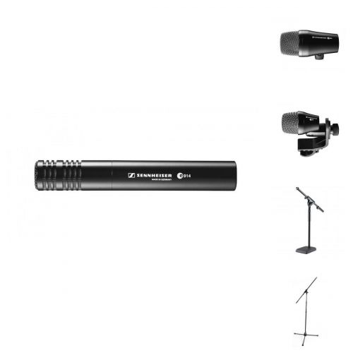SENNHEISER DRUMS MIC PRO BUNDLE E902 + E914 + E904 + STANDS