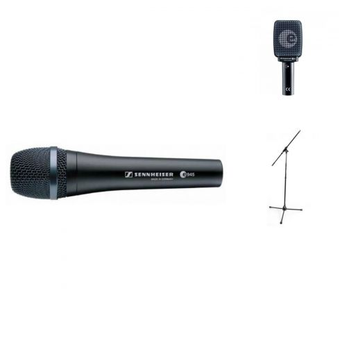 SENNHEISER VOCAL GUITAR PRO BUNDLE E945 + E906 + STANDS