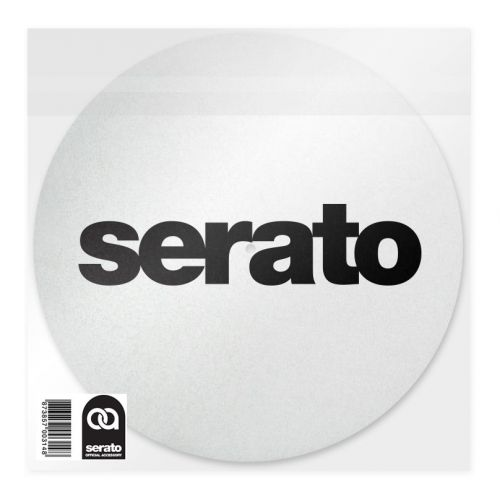 SERATO LOGO SLIPMATS WHITE (LIGHTWEIGHT FELTS PAIR)