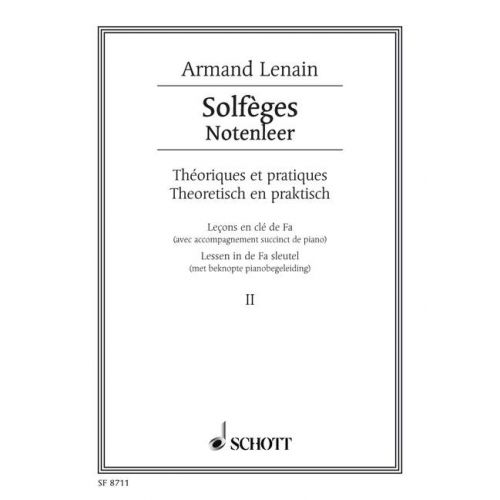 SCHOTT LENAIN JEAN - SOLFÈGES BAND 2 - VOICE AND PIANO
