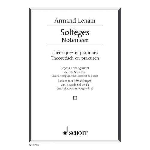 SCHOTT LENAIN JEAN - SOLFÈGES NR. 3 - VOICE PART