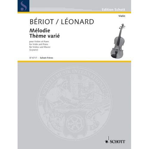 SCHOTT BERIOT CHARLES-AUGUSTE DE / LEONARD HUBERT - LES ECOLES DU VIOLON SERIE 3 - VIOLIN AND PIANO