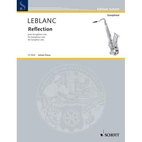 SCHOTT LEBLANC PHILIPPE - REFLECTION - SAXOPHONE