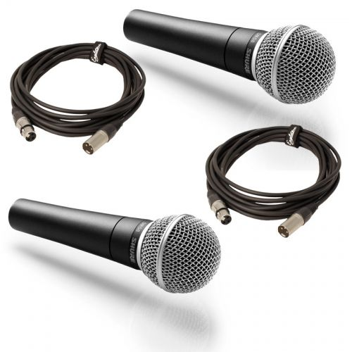 SHURE PACK DOUBLE SM58 + CABLES XLR