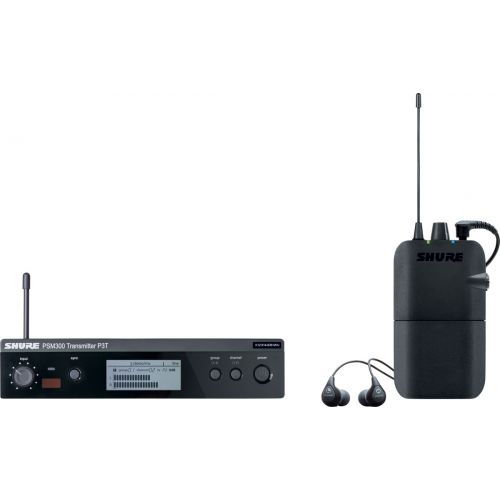 SHURE PSM 300 - PACK WITH SE112 EARPHONES - K3E