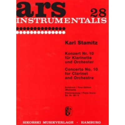 SIKORSKI STAMITZ CARL - CONCERTO N°10 - CLARINET & PIANO