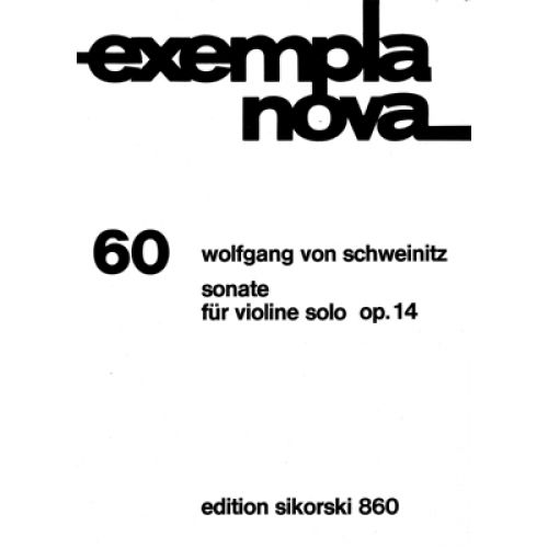 SIKORSKI SCHWEINITZ W. V. - SONATE OP.14 FUR VIOLINE SOLO