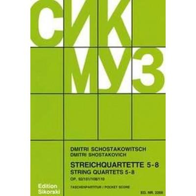 SIKORSKI CHOSTAKOVITCH DIMITRI - STRING QUARTETS 5-8 - SCORE