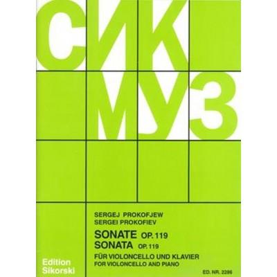 SIKORSKI PROKOFIEV S. - SONATE OP.119 - VIOLONCELLE & PIANO