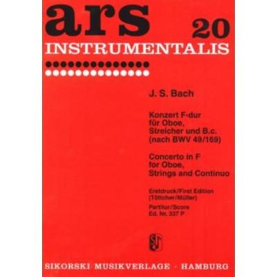 SIKORSKI BACH JEAN-SEBASTIEN - CONCERTO IN F MAJOR FOR OBOE, STRINGS AND BASSO CONTINUO - (BWV 49/169) - SCOR