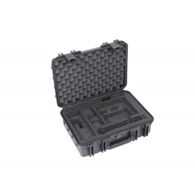 SKB MUSIC MIC CASES ISERIES WATERPROOF CASE WITH SHURE SLX/ULX CUSTOM INTERIOR BLACK