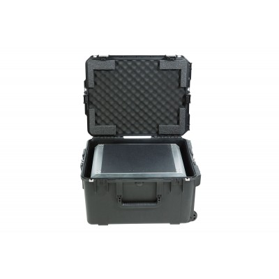 SKB 3I-2217-124U - ISERIES CASE WITH REMOVEABLE 3U RACK CAGE WITH WHEELS