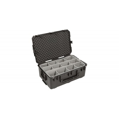 SKB 3I-2918-10B-D - UNIVERSAL WATERPROOF CASE 737 X 457 X 276 (225+51) MM WITH WHEELS AND DIVIDERS