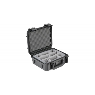 SKB 3I-0907-4B-D - UNIVERSAL WATERPROOF CASE 235 X180 X 105 (75+30) MM WITH MINI-LATCH, DIVIDERS