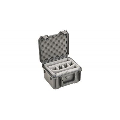 SKB 3I-0907-6B-DD - INJECTION MOLDED WATERPROOF CASE WITH TWO LAYERS OF DIVIDERS FOR 6 MICS