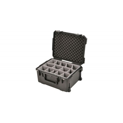 SKB 3I-2015-10B-D - UNIVERSAL WATERPROOF CASE 520 X 393 X 254 (204+50) MM DIVIDERS WITH WHEELS & PULL